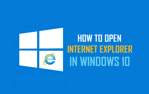 Open Internet Explorer in Windows 10