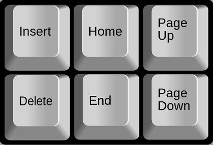 Page Up and Page Down Keys on Windows Keyboard