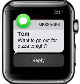 Reply to Message Using Siri on Apple Watch