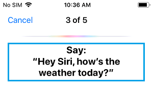 Say Hey Siri, how's the weather today