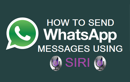 Send WhatsApp Messages Using Siri