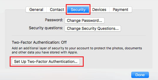 Setup Two Factor Authentication on Mac