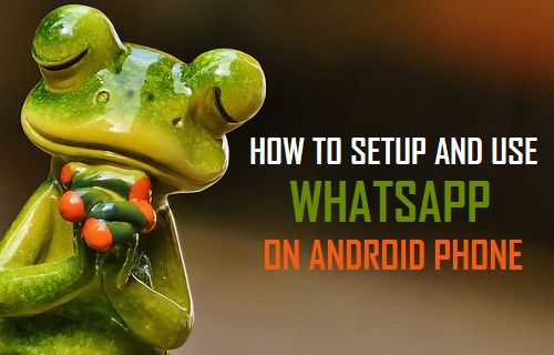 Setup and Use WhatsApp On Android Phone