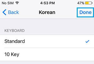 Add Standard Korean Keyboard on iPhone