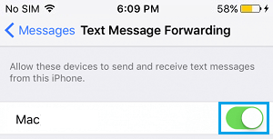 Enable Text Message Forwarding between iPhone and Mac