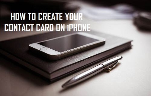 Create Your Contact Card on iPhone