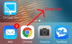 Drag App Out of Dock on iPhone