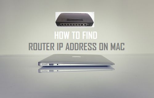 Find Router IP Address on Mac