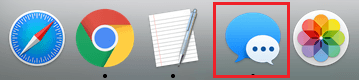 Messages App Icon on the Dock of Mac