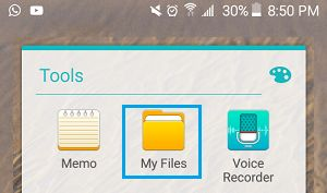 Open My Files App on Android Phone