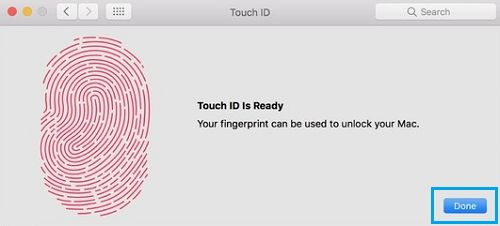 Save Fingerprint on MacBook Pro