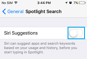 Siri Suggestions and Spotlight Search on iPhone
