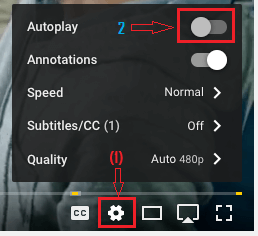 Turn OFF Auto Play From YouTube Settings Menu on Mac