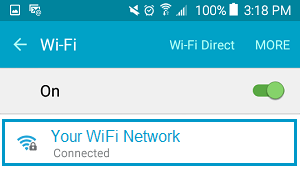 Your WiFi Network on Android Phone