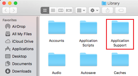 Application Support Folder in Library on Mac
