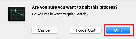 Are you Sure you Want to Quit This Process Pop-up on Mac