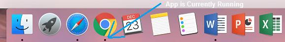 Black Dot Under Running App on Mac