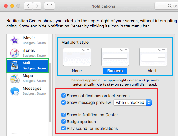 Change Notifications Style On Mac