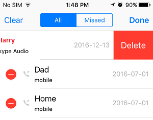 Delete Multiple Calls On iPhone