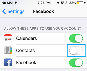 Disable Facebook From Accessing Contacts on iPhone
