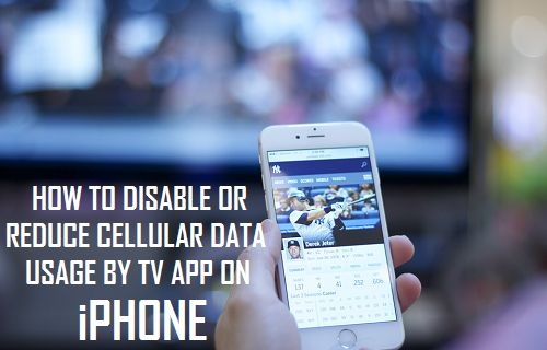 Disable or Reduce Cellular Data Usage By TV App On iPhone