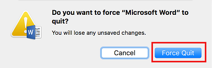 Do you Want to Force Quit Pop-up on Mac