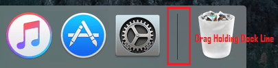 Change Dock Position on Mac by Dragging With Mouse