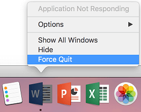 Force Quit Apps From the Doc on Mac
