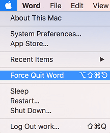Force Quit Application Tab and Apple Menu Icon on Mac