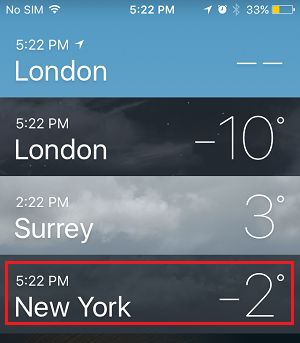 Rearrange Cities in iPhone Weather App