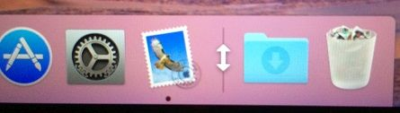 Resize Icon in Dock Divider Line on Mac