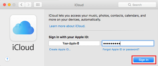 Sign-in With Your Apple ID