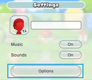 Super Mario Options Tab on iPhone