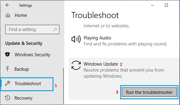 Troubleshoot Windows Update Problems