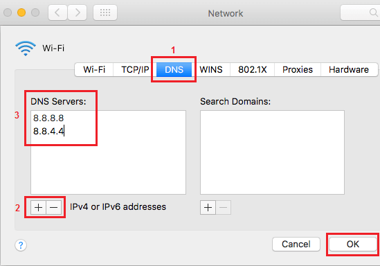 Change DNS Servers to Google DNS on Mac