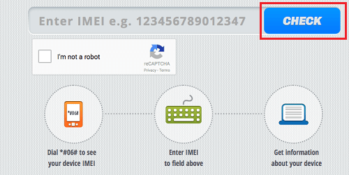 Enter IMEI to Check Whether Android Phone is Locked or Unlocked