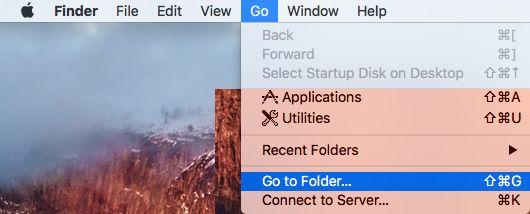 Go to Folder Menu Option on Mac