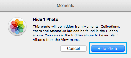 Hide Single Photo Pop-up on Mac