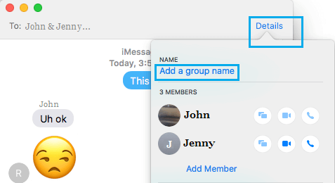 Add Group Name Option in Messages App on Mac