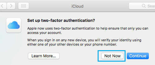 Set up Two Factor Authentication On Mac