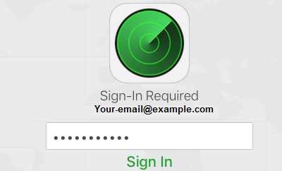 Sign-in to Find iPhone Service