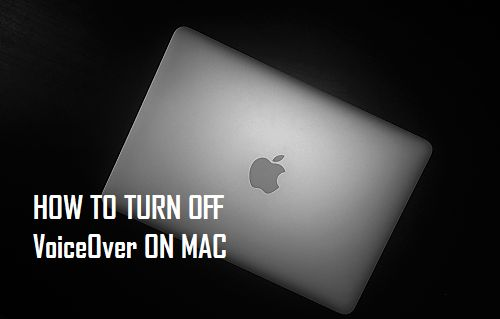 Turn Off VoiceOver On Mac