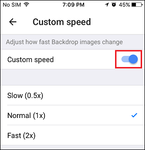 how to change screen size on chromecast