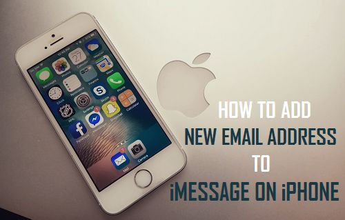 how to add email address to iphone how to add new email address to imessage on iphone 19815