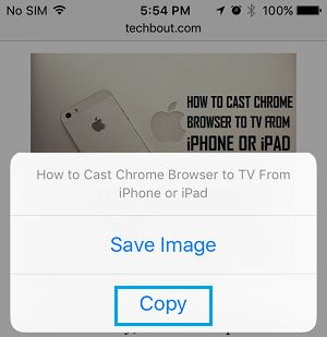 Copy Photo to Notes on iPhone