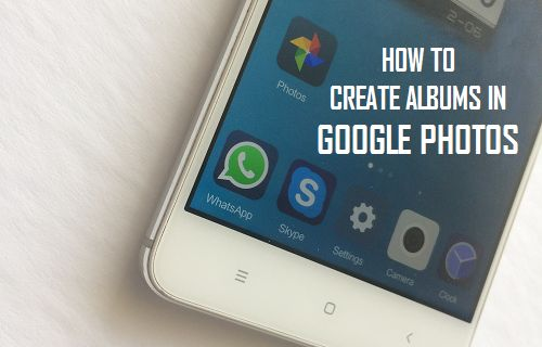 how to create private album on google photos