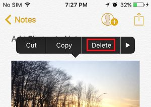 Delete Photos From Notes on Mac