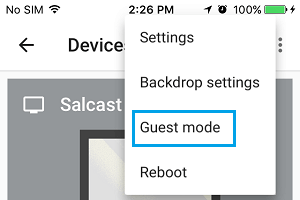 Guest Mode Option in Chromecast