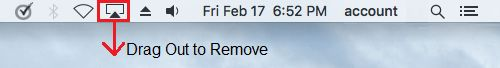 Remove Icon From Menu Bar on Mac