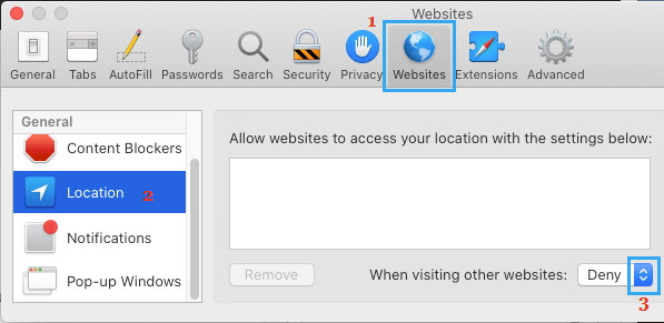 Stop Websites From Tracking Location on Mac Safari Browser